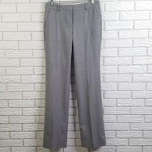 J Crew Cafe Trouser Pants 0 Light Gray 100% Wool